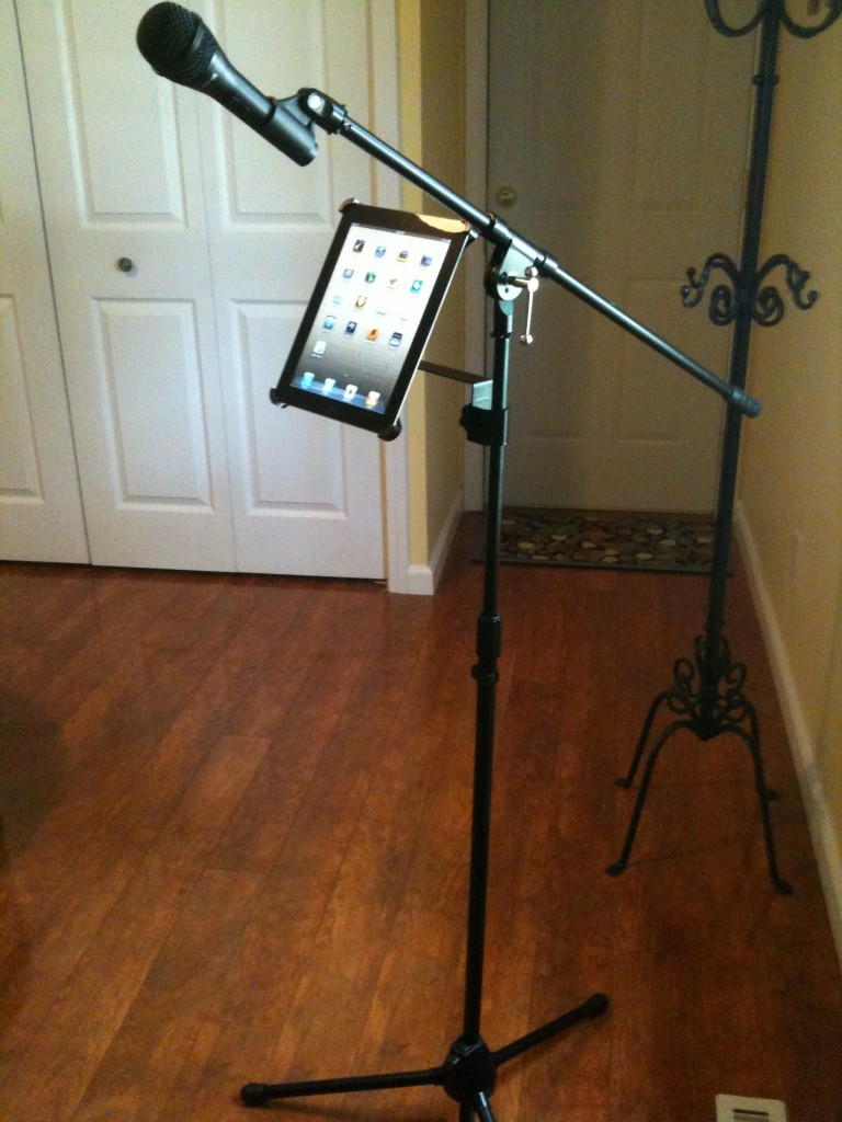 Microphone Stand = Music Stand?!