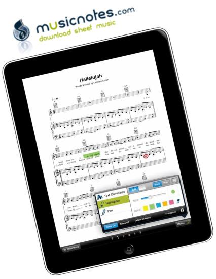 Musicnotes iPad App