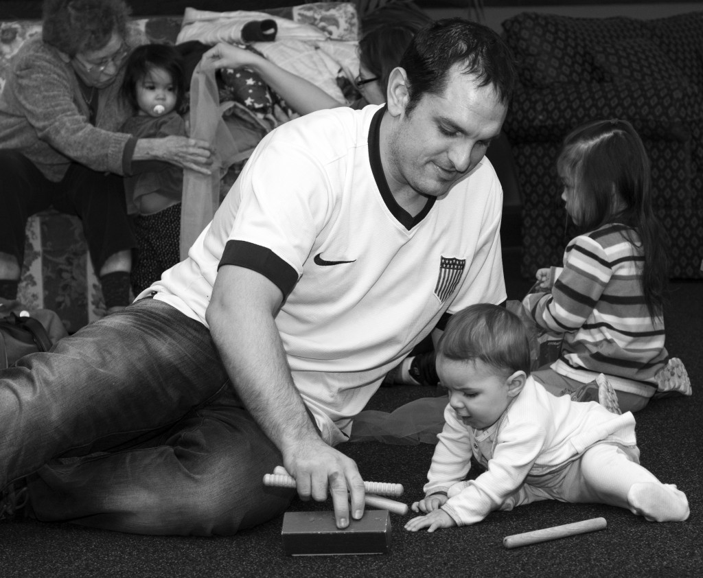 Parker and Daddy at Music Class