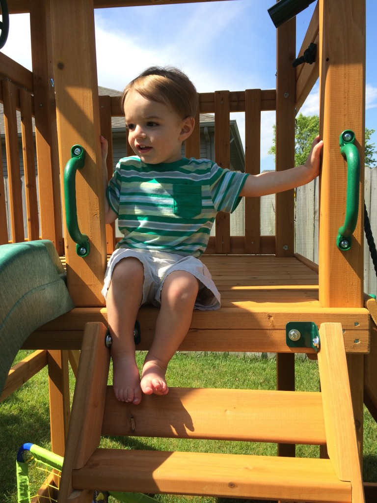 Parker on his playground