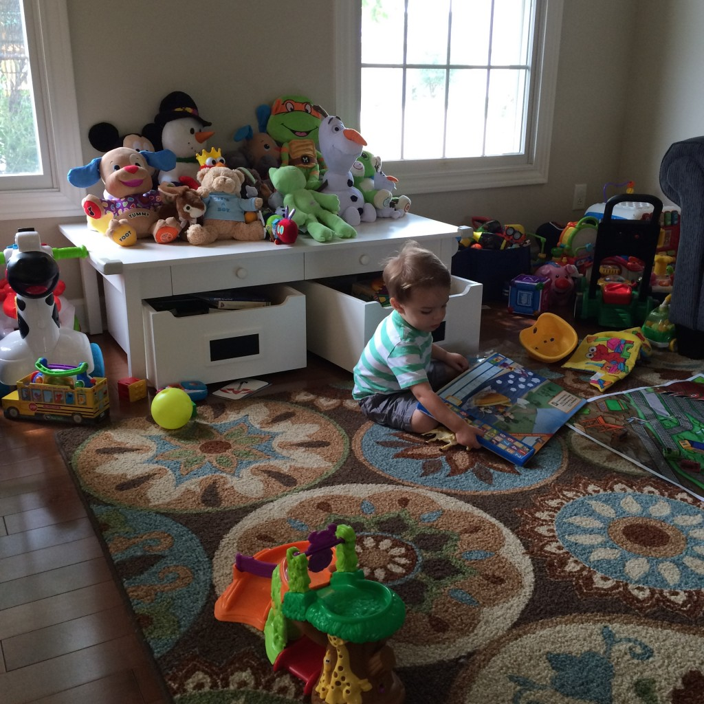 Parker in his playroom