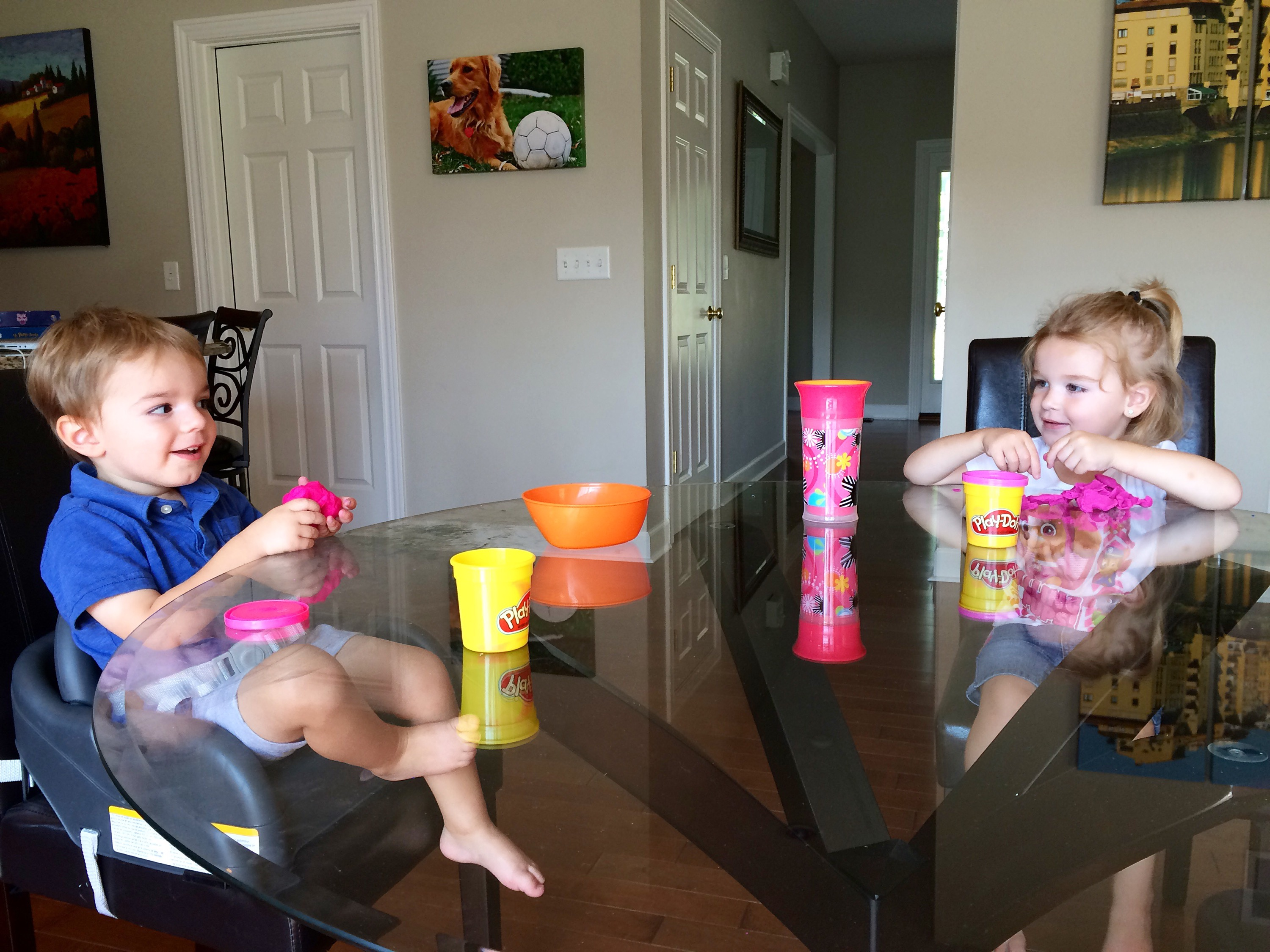 Playdate with play-doh