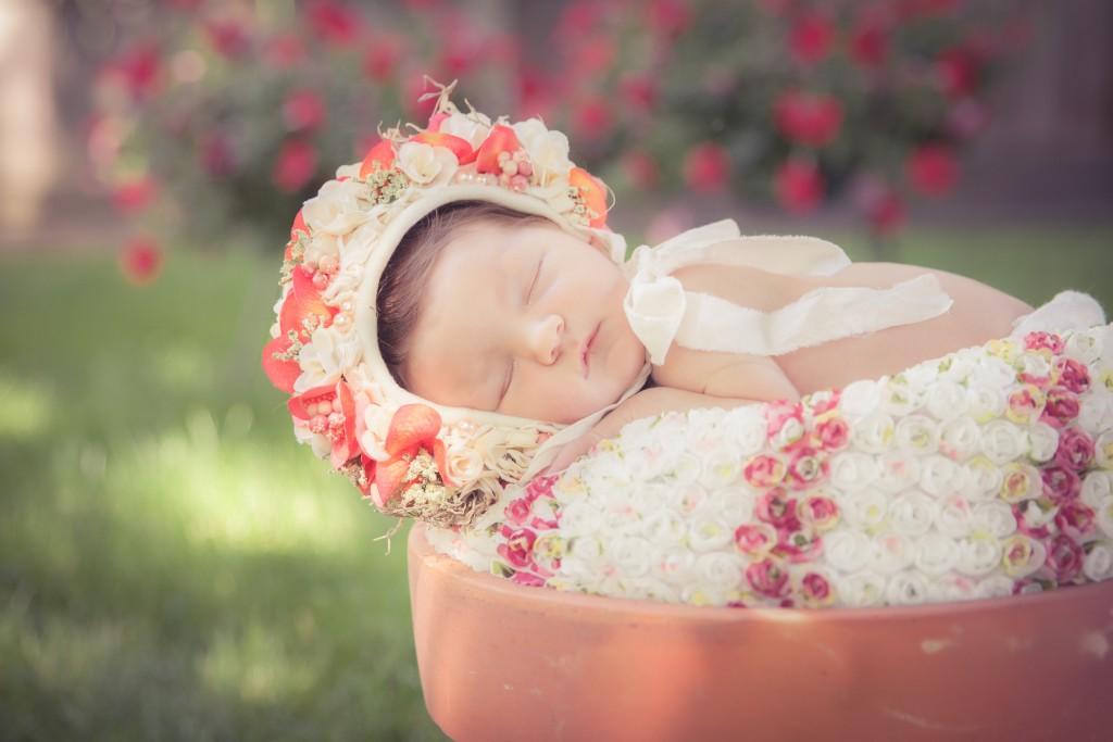 Mia in a Flower Pot