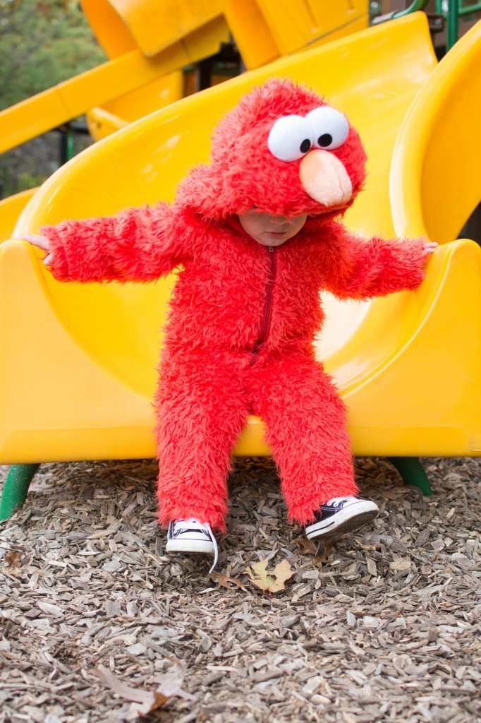 Parker's 2nd Halloween as Elmo