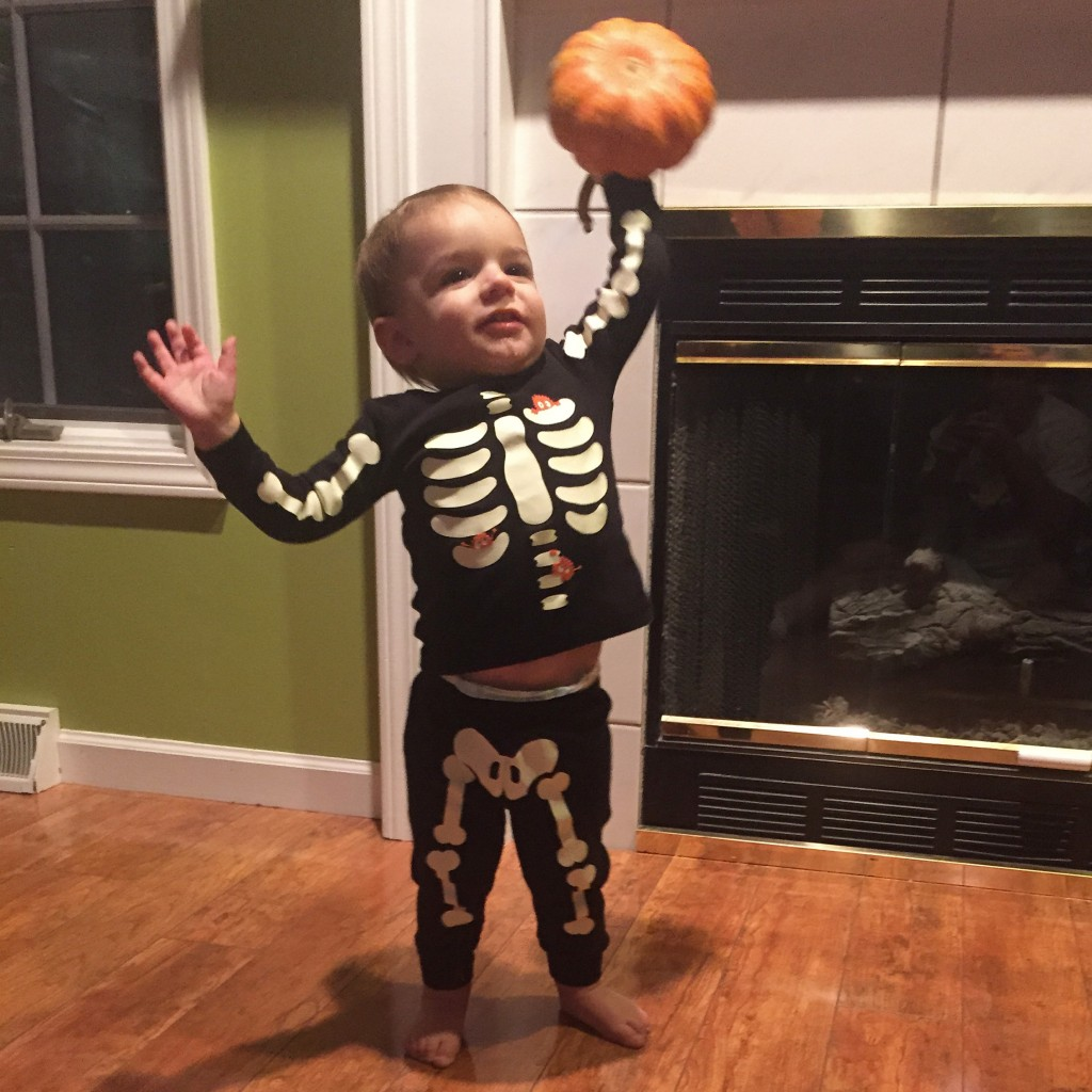 Parker's 2nd Halloween | Skeleton Jammies