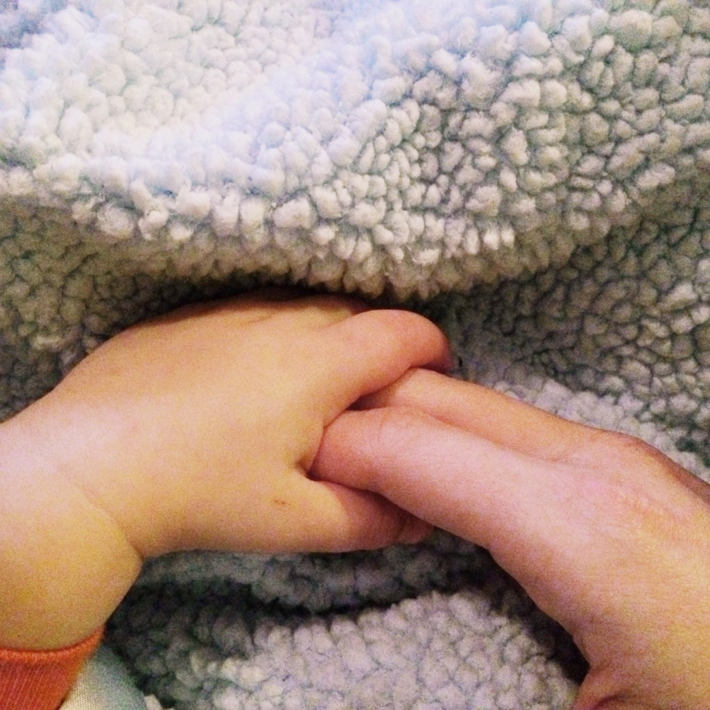 Holding Hands with Parker