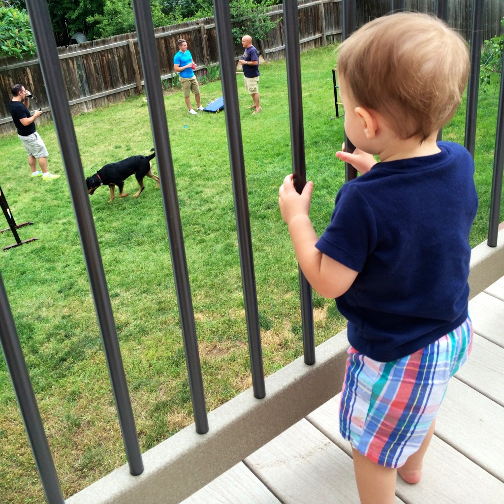 Parker watches the big boys play