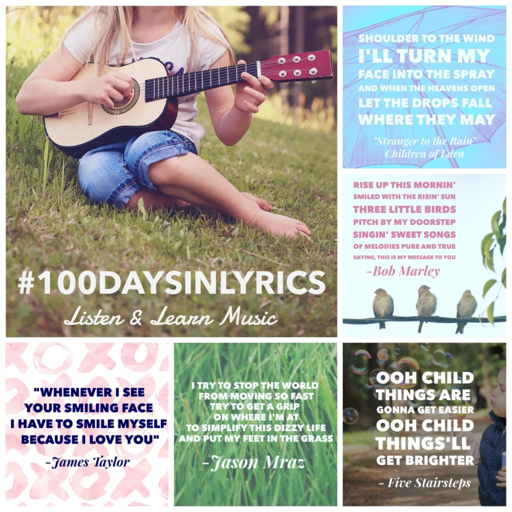 The 100 Day Project | 100 Days in Lyrics