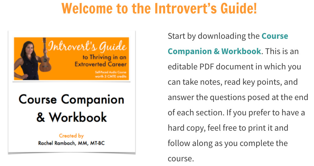 Introvert's Guide - Course Companion & Workbook