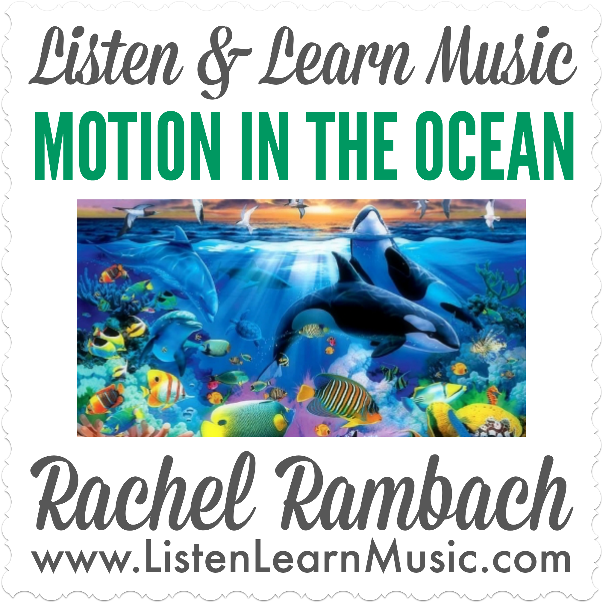 Motion in the Ocean | Music Therapy Song for Ocean Drum | Listen & Learn Music | Rachel Rambach