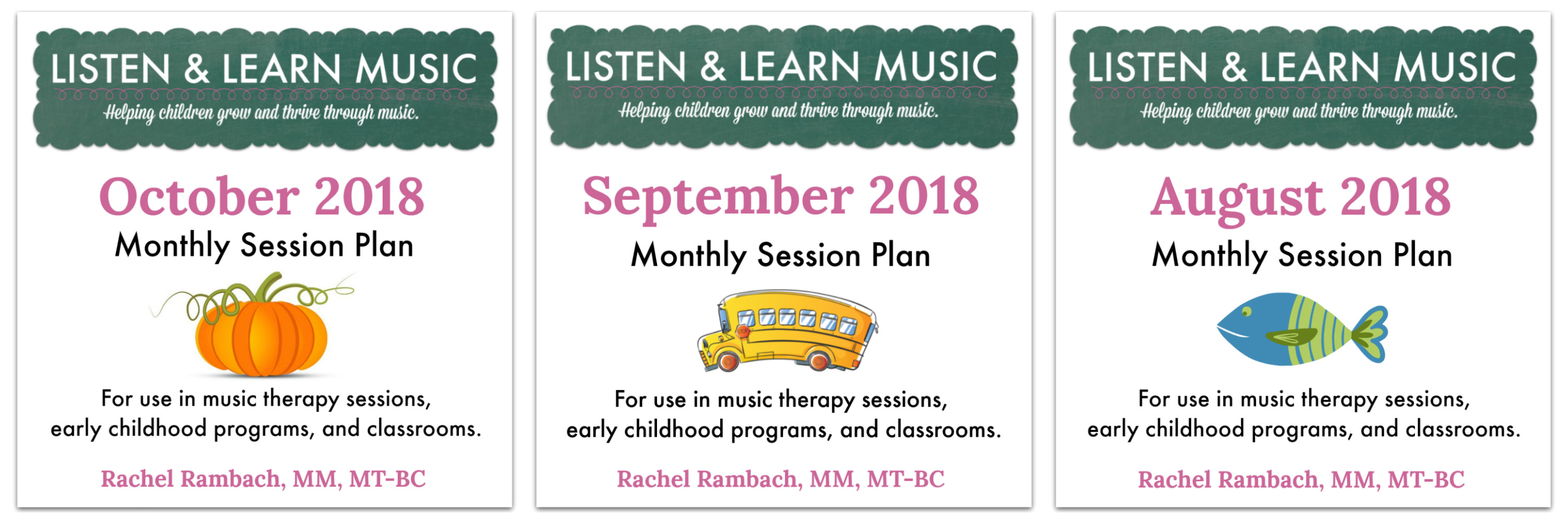 Monthly Session Plans | Listen & Learn Music