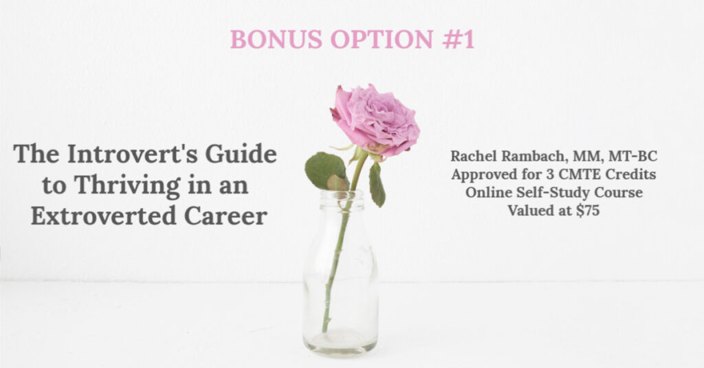 Bonus Option # 1 | The Introvert's Guide to Thriving in an Extroverted Career