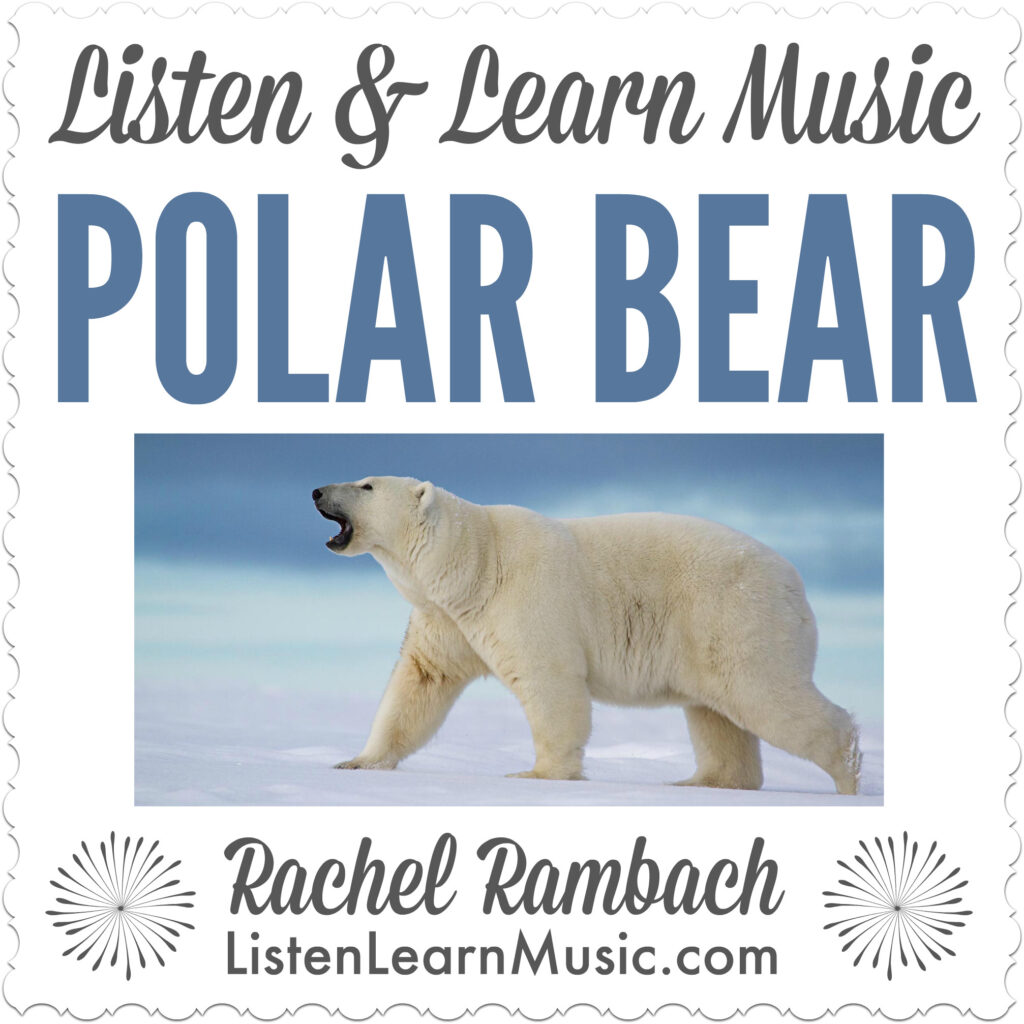 Polar Bear | Winter Song for Children | Listen & Learn Music