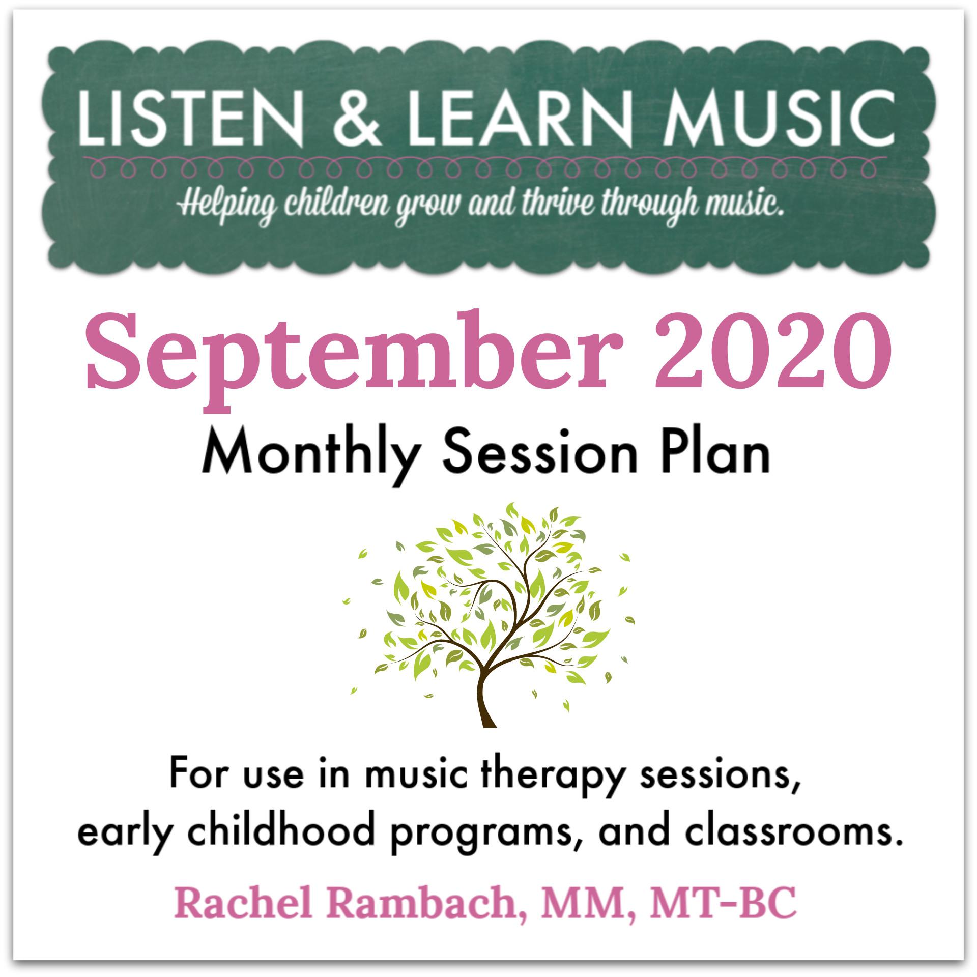 September Session Plan | Listen & Learn Music
