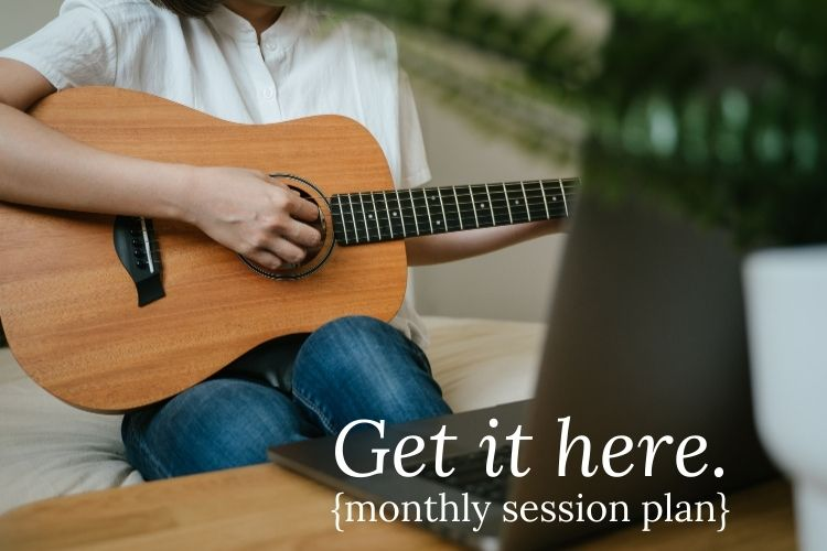 Monthly Session Plan from Listen & Learn Music